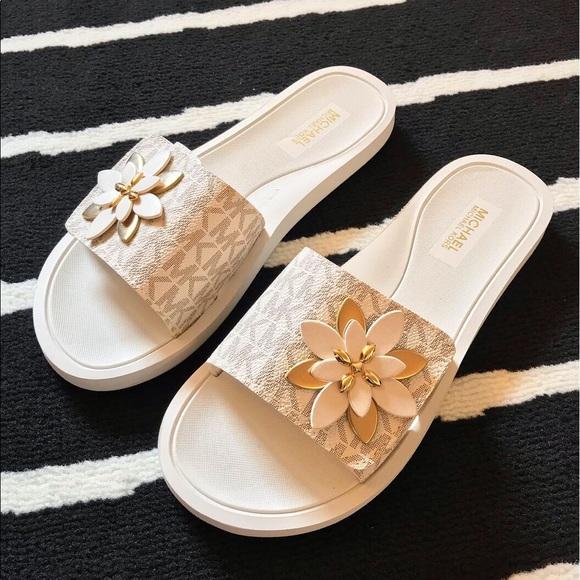 Michael Kors Floral Slides Sandals